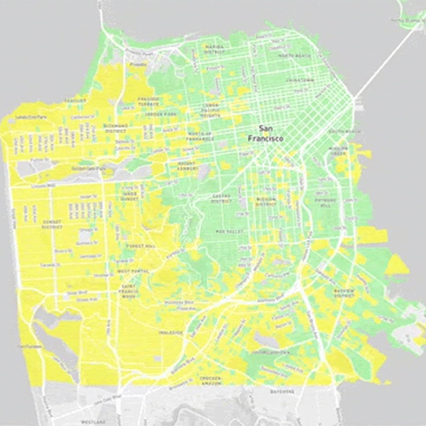 Political map of San Francisco
